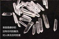 shippingpouch !! الجملة 100 جرام بالجملة نقاط صغيرة واضحة الكوارتز الكريستال المعدنية شفاء reiki جيدة محظوظ الطاقة العصا المعدنية SP3TL mlyku