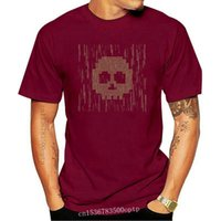 Men's T-Shirts Custom Customized Skull Hacker Tshirt For Mens Letter Anti-Wrinkle Comical Men Streetwear Top Tee