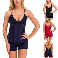 Lingerie Kadın Duygusu Seksi Iç Çamaşırı Eklemeleri Iki Erotik Temyiz Lingerie Set Back Kadın Lenceria Q0706 Üzerinde Şov Pijama Dantel