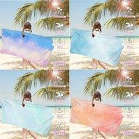 Towel European And American Watercolor Series Digital Printed Beach Summer Bathroom Outdoor Water Bath