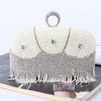 Diamond ring dinner bag quality Pearl clutch ladies l embroidery rhinestone tassel evening