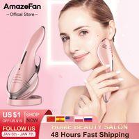 Amazefan EMS LED مزيل التجاعيد الجليد الساخن الوجه رفع machager massager مايكرو الحالي الجمال جهاز الجلد المناقصات