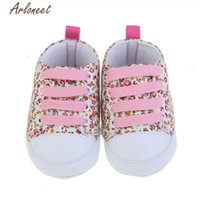 First Walkers TELOTUNY 2021 FASHION Toddler Soft Soled Anti-slip Baby Canvas Floral Shoes ZY30