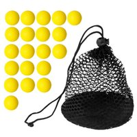 Golf Training Aids 20 Pieces PU Soft Foam Balls With Nylon Mesh Net Storage Bag - Great For Practice