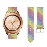 Samsung Galaxy Watch 42mm Smart Watch Strap Chair Band para Galaxy Watch Active 2 BLING Glitter Watchband Bracelet 0311