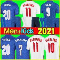잉글랜드 축구 유니폼 2020 2022 KANE STERLING RASHFORD SANCHO HENDERSON BARKLEY MAGUIRE 20 22 축구 국가 셔츠 남성 + 키즈 키트 세트 유니폼