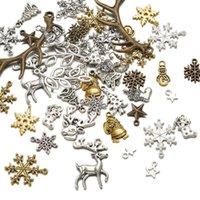 1set Charms Charms Charms ciondoli stile tibetano santa claus cervi antler fiocco di neve calzino albero stella per gioielli collana regali