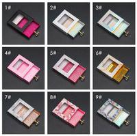 Lashes Eyelash Perfume Packaging Box Custom Crystal Handle Lash Case for Fluffy 25mm Natural 3D Mink False Eyelashes