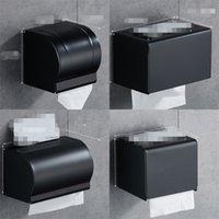 Black Paper Классная коробка для ванной комнаты Бумага держатель настенный Умеренный туалетной бумаги держатель стойки Ванная комната Аксессуары для ванной комнаты Держатель ткани коробка 376 R2