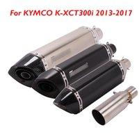 أنابيب العادم ل Kymco K-XCT300I 2013-2021 دراجة نارية نظام كاتم الصوت تلميح موصل ربط الأنبوب الأوسط