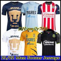 2021 2022 Naul Tigres Football Jerseys Gignac 20 21 22 Home Away Troisième 7 étoiles Vargas Coupe du Monde Monterrey Camiseta de futbol Unam Liga MX Top The The The Thiland Football Shirts.