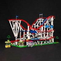 В наличии 15039 Roller Coaster Creator 10261 4619PCS Boy Dreams Модель Строительные блоки Совместимые с 10261 Образование Игрушки