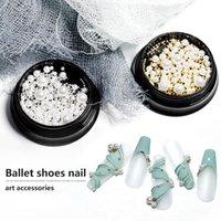 Décorations de ongles Décorations Caviar Perles Convient à Pearl Or et argent Petit Steel Décoration MicroBeads Accessoire Dians Nail