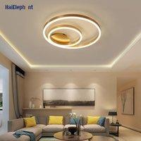 Chandeliers Modern Golden Round Chandelier Lighting For Study Living Room Bedroom Indoor Led Lights Deco Lustre Lamps Fixtures AC 90-260V