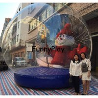 inflatable christmas snow globe tent,3m diameter pvc Transparent human Lawn Tents For Photo Exhibition Outdoor Recreation Tent
