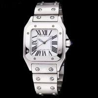 حركة مصنع الرجال ووتش سانتو WSSA0018 رجل الكوارتز الساعات البيضاء الهاتفي الياقوت الزجاج الفولاذ المقاوم للصدأ حزام الفاخرة wristwatchin1f