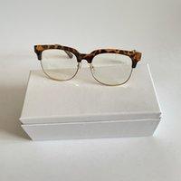 Damas diseñador Gafas de sol Retro Redondo Luz Plana Gafas de sol Hombres Protección UV Metal Media Marco Gafas