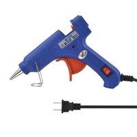 110 ~ 230 В высокий температурный нагреватель нагревателя расплава горячий клеевой пистолет 20 Вт ремонт инструмент тепловой пистолет синий мини с триггером US / EU PULL REPORTION DIY инструменты