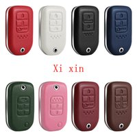 For Honda Civic Accord Crider xrv Vezel crv Breeze Leather special car key cover keychain shell car accessories for girls