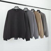 Mens Designer Hoodies 3 cor sólida Kanye lavado desgastado Solto O-pescoço camisola alta Sreet manga comprida Sueter