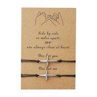 Bracelets de charme Cross Bracelet Cire Corde Mens Barcelet Luck Cadeau pour ses bijoux de son amitié