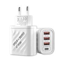 PD 30 W Hızlı Şarj 3.0 USB Şarj 4 Bağlantı Noktaları QC3.0 Fon AB ABD Plug Evrensel Mobil Tabiet Duvar Adaptörü için Hızlı Şarj