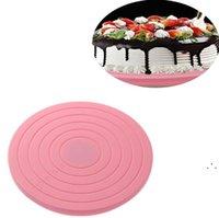 Plastik Kek Turnable Dönen Yuvarlak Kek Dekorasyon Araçları Masa Plakası Mutfak DIY Pişirme Aracı Kek Araçları OWF5663