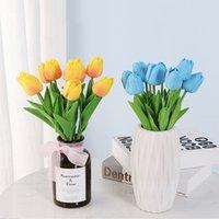 Tulipano fiore artificiale reale tattile tulipano artificiale bouquet fiore finto per regalo domestico matrimonio fiori decorativi W-00719