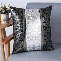 Cubierta de cojín decorativo de lujo Vintage Europa Funda de almohada floral para el sofá de coches Decoración Funda de almohada para el hogar 45 x 45cm Nuevo