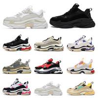 Zapatos de diseñador de moda al por mayor Paris 17FW Triple S Sneaker Casual Papá zapatos para hombres mujer Negro rosado blanco Zapatillas deportivas Tamaño 36-45