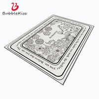 Bubble Kiss In The Living Room Light Luxury Nordic Style Black White Flower Pattern Carpet Home Customized Bedroom Rug