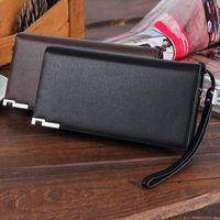 Wallets Men Long Bifold Business Leather Wallet Money Slim Bi-Fold Flip Inserts Card Holder Coin Bag Purse #40