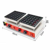 Kalp şekli çörek makinesi, aperatif gıda 50 delik poffertjes makinesi küçük işletme için ticari dorayaki makinesi