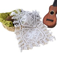 Tapetes almofadas de algodão crochet mesa lugar almofada pano pano potenciômetro titular de copo panela casamento placemat caneca de jantar chá doily cozinha