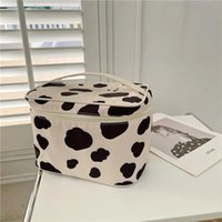 Cosmetic Bags & Cases Korea Cute Leopard Girls Case Large Capacity Make Up Bag Home Storage Makeup Brush Compartment Pocket