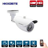 Kameralar HKIXDISTE HD 4MP IMX322 AHD Sistemi CCTV Kamera Açık Su Geçirmez Küçük Metal IR Güvenlik Gözetim