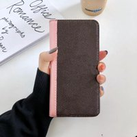 2021Luxury Wallet Phone Cases for iPhone 12 11 pro max X XR XSMax 7 8 plus High Quality Leather Card Pocket Sticker Cellphone Cover