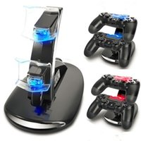 Charger Dock LED Dual USB Carregando Stand Station Cradle para Sony PlayStation 4 PS4 Pro / Slim Controller