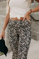 Women's Leggings Leopard Printed High Waisted Korean Fashion Joggers Vintage Summer Sweatpants Clothing Pants Trousers For Female 2021