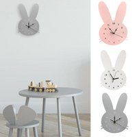 Wall Clocks Nordic Wooden Mute Clock Bedroom Kids Room Home Decoration