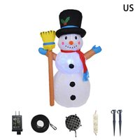 Christmas Decorations Props Decoration LED Light Kids Festival Outdoor Party Supplies Holiday Inflatable Snowman Winter Stakes Home Colorful