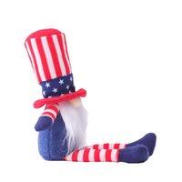 Патриотический гном плюшевый американский президент избирательных избирательных украшений Томте 4 июля подарок Handmade Dwarf Кукла домашнее украшения OA3725