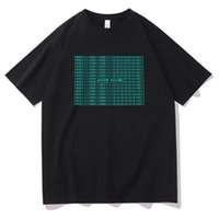 Camisetas para correr hombres Moda de moda TEE SONIDO EQUALIZADOR ACTIVE EL T-SHIRT LUZ APROBADA ARRIBA LED TSHIRT MÚSICA DE MÚSICA DE MÚSICA CAMISETA