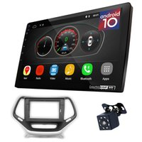 ugar EX10 10 بوصة Android 10.0 DSP Car Radio Radio Plus 22-811L Fascia Kit متوافق مع Jeep Cherokee 2014+