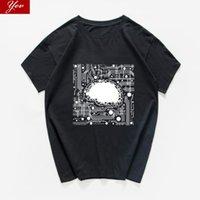 Men's T-Shirts Ai Artificial Intelligence Graphic Brain T-shirt Men 100% Cotton Science And Technology Funny T Shirt Streetwear Hip Hop Hips