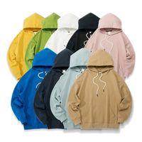 Houzhou cotone donne con cappuccio Harajuku coppia felpe felpe primavera manica lunga sudadera mujer casual tascabile pullover vestiti 201106