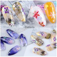 Nail art decoration in Christmas stickers &decals 12 grid laser snowflake Sheet box winter sequins super quality mix order canbe ok