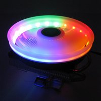 Fans & Coolings 3Pin 4pin 4 Heatpipe Cooling Fan RGB LED CPU Cooler Heatsink For LGA 775 1155 1366 2011 2011-3 Support X58 X79 X99 Motherboa