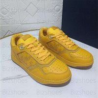 Welttour B27 Low-Top Sneaker Schräg Galaxy Leder Lässige Schuh Gelb Smooth Calfskin Herren Luxurys Designer Schuhe Xianghuaqiang