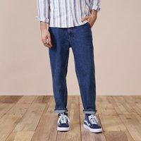 Jeans pour hommes simwood 2021 printemps lâche conique 100% coton-longueur-longueur hommes occasionnel Plus Streetwear Denim Pantalons en denim